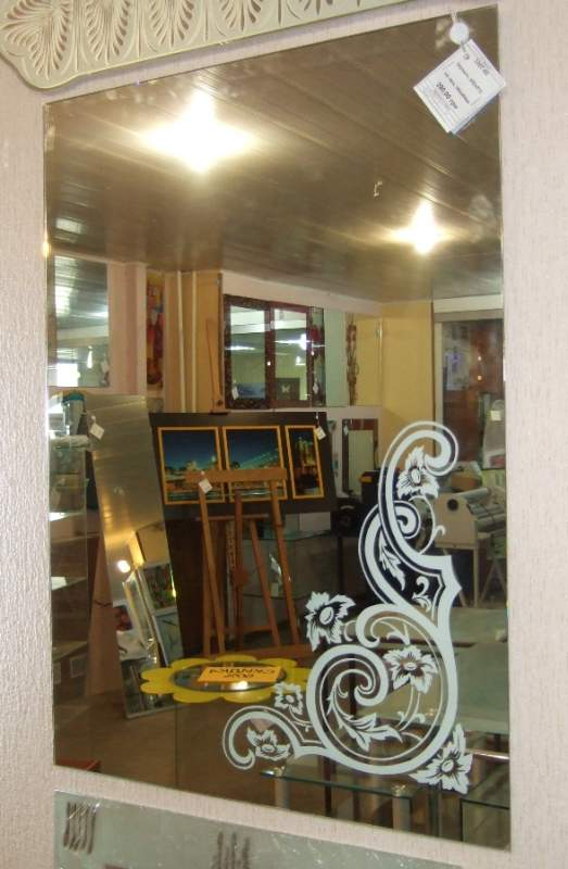 зеркала с пескоструйным рисунком фото