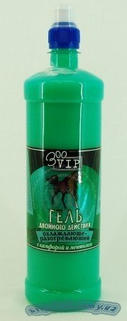 """Gel double action VEDA /""""ZooVip/"""" 500 with camphor and menthol cooling-warming"""