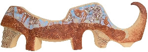Свічник керамічний Носоріг