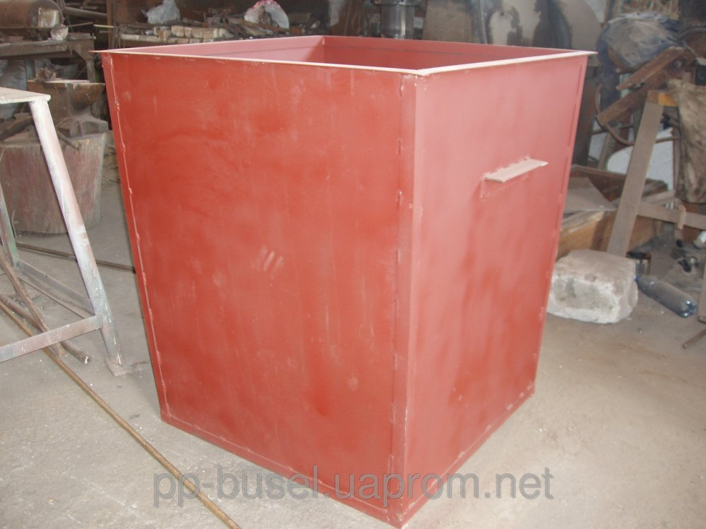 Купить Контейнер для мусора металлический c крышкой, V=0,75 м.куб. (боковая загрузка), Украина