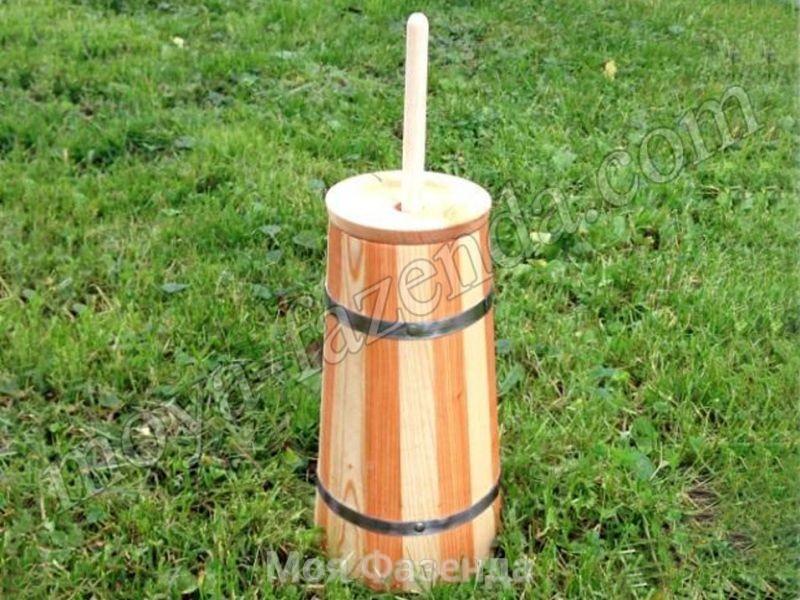 Деревянная маслобойка для сливочного масла (код X-3)