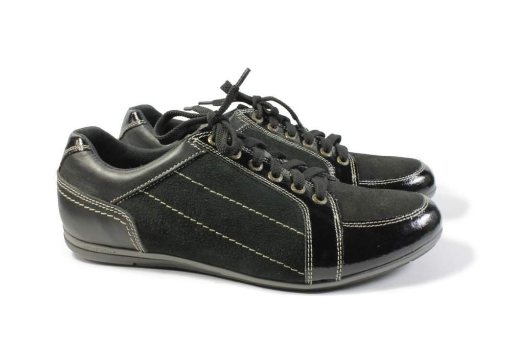 Шкіряні чоловічі кроссовки чорного кольору купити в Миколаїв 1f35a55d59883