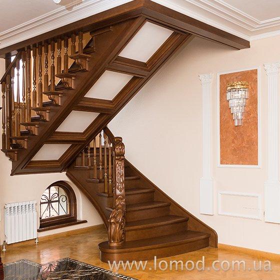 Лестница деревянная. Модель Элита.