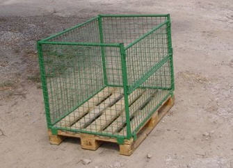Buy The container pallet mesh folding without cover