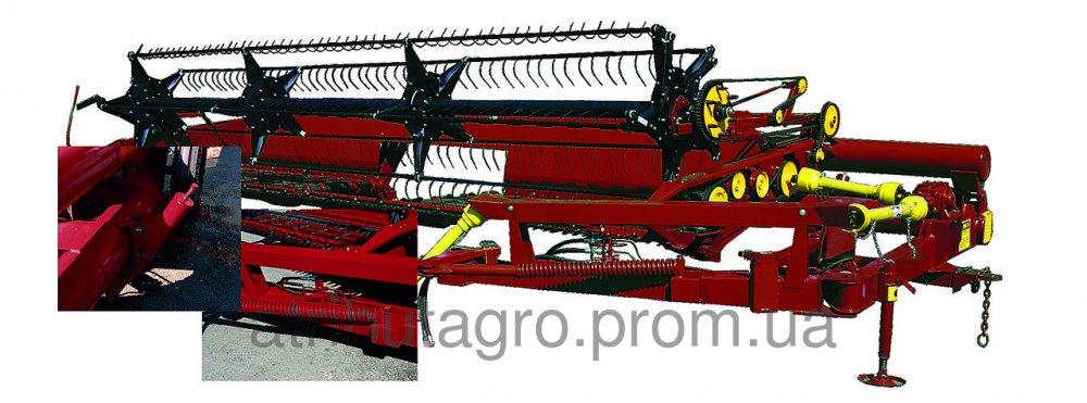Жатка зерновая прицепная ЖВП на МТЗ-80.