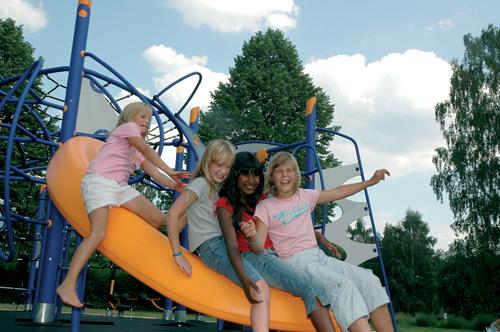 Купить Площадки детские Детские площадки, игровые комплексы от шведского производителя HAGS