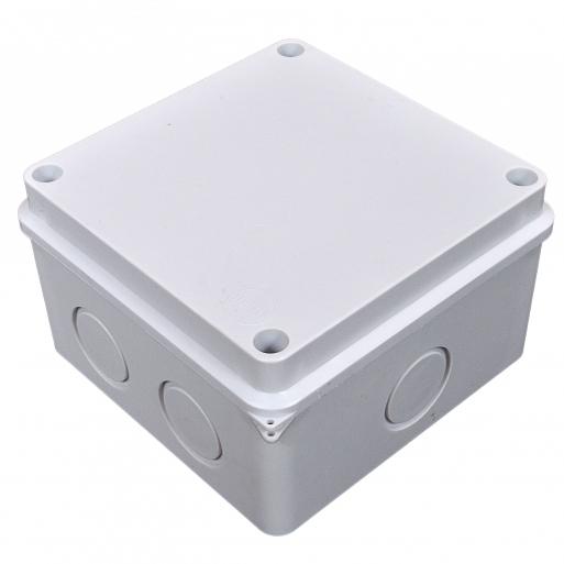 Купить Коробка распределительная, наружная,пластиковая110х110; 6 вводов IP55,без клем