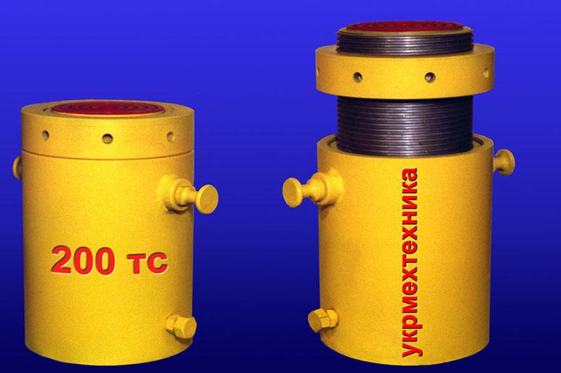Купить Домкрат гидравлический фиксируемый ДГ ФУ-200, ДГ ФУ-300 грузоподъемностью 200 и 300 тс, предназначены для подъема и выверки технологического оборудования при производстве монтажных и демонтажных работ