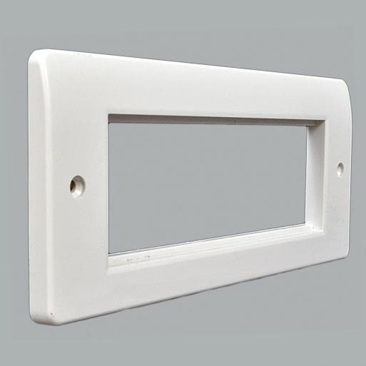 Купить Рамка для установки 3 модулей 150х50, 206x86 мм, белая