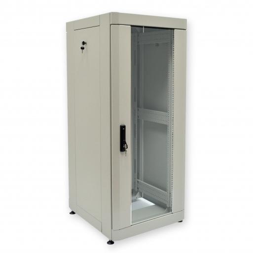"""Купить Шкаф 19"""" 28U, 610х675 мм (Ш*Г), усиленный, серый"""