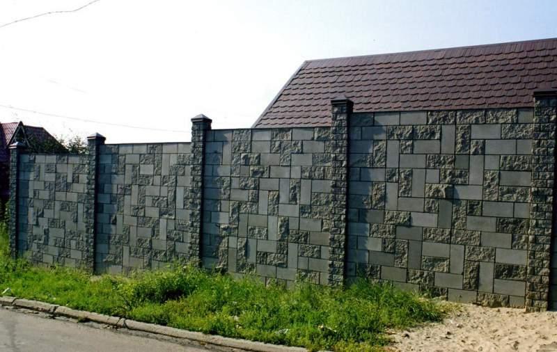 Купить заборные блоки в СПб, бетонные блоки для