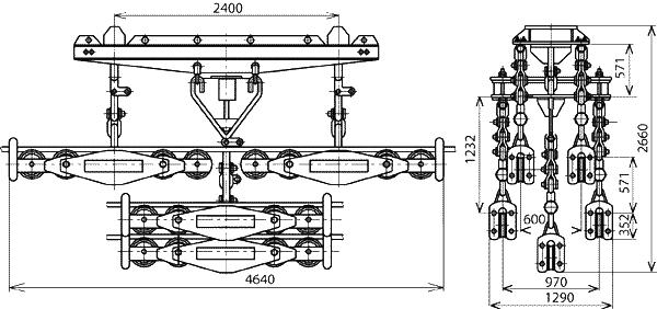 Подвесы многороликовые 5П6Р