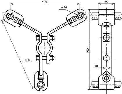 Распорки типа 3РС-5-400