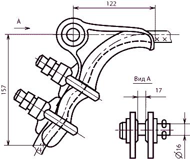 Зажим натяжной болтовой НБ-2-6А