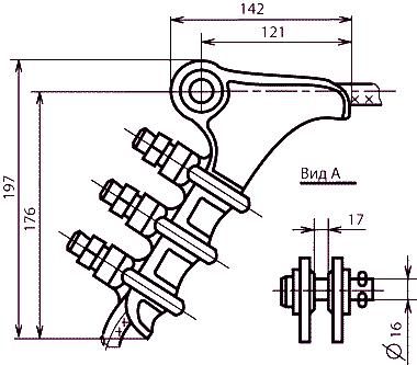 Зажимы болтовые НБ-2-6
