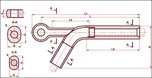 Зажим натяжной, прессуемый НАС-700-1