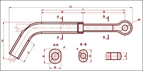 Зажим натяжной транспозиционный ТРАС-400-1