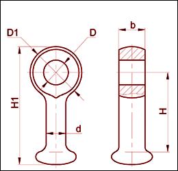 Серьга марки СР-7-16