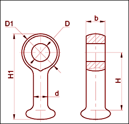 Серьга марки СР-12-16
