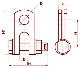 Скоба трехлапчатая СКТ-16-1