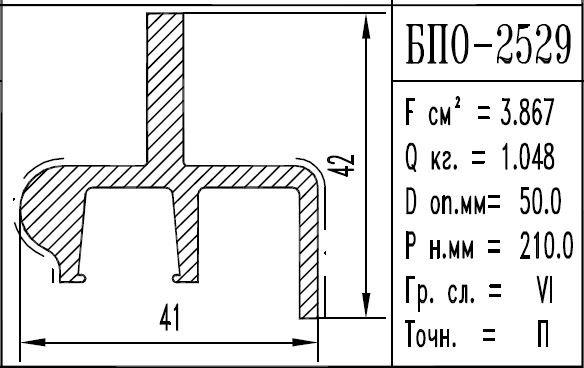 Buy The aluminum shape the BPO brand – 2529
