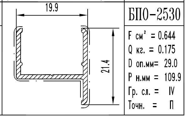 Buy The aluminum shape the BPO brand – 2530
