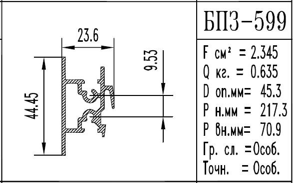 Buy The aluminum shape the BPZ brand - 599