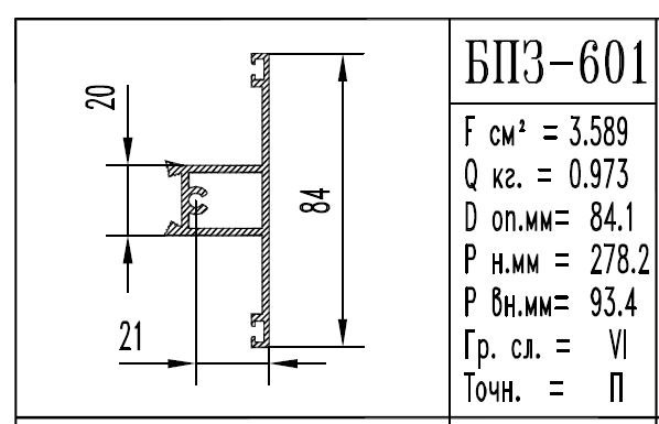 Buy The aluminum shape the BPZ brand - 601