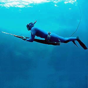 Training in spearfishing
