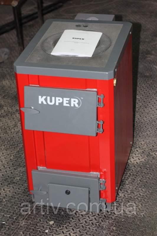 Купить Твердотопливный котел Kuper 12кВт (с плитой)