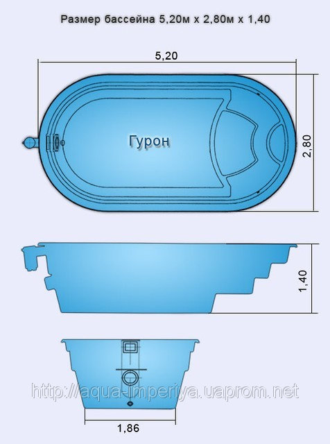 Бассейн «Гурон» в Запорожье