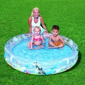 Бассейн детский 2 кольца. Размер 152см х 25см