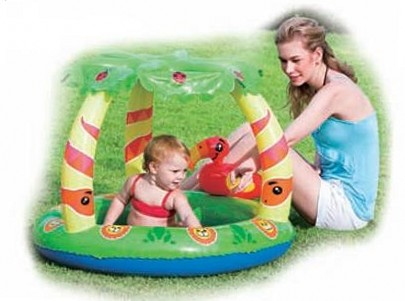 Buy The pool with a canopy and an inflatable bottom 99х91х71