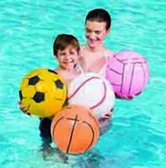 Мяч пляжный, спорт, Оранжевый. Ø 41см.