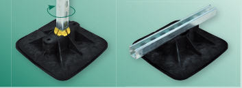 Опора BIS Yeti ® 335 - с антивибрационным ковриком. Арт 6768 5 201