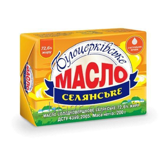 Масло сладкосливочное «Крестьянское» 72,6% жира, 200 г, фольга