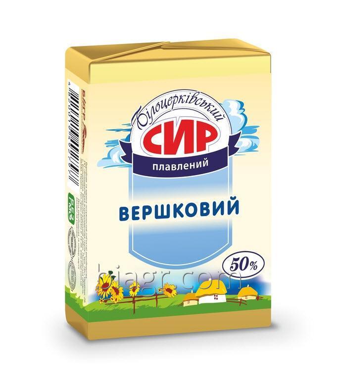 Сыр плавленый «Сливочный», с массовой долей жира в сухом веществе 50%, 90 г, фольга алюминиевая