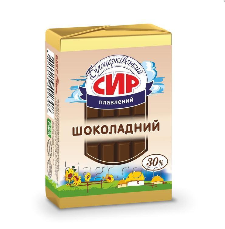 Сыр плавленый сладкий «Шоколадный», с массовой долей жира в сухом веществе 30%, 90 г, фольга алюминиевая