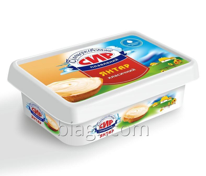 Сыр плавленый пастообразный «Янтарь»  с массовой долей жира в сухом веществе 60%, 180 г, стакан