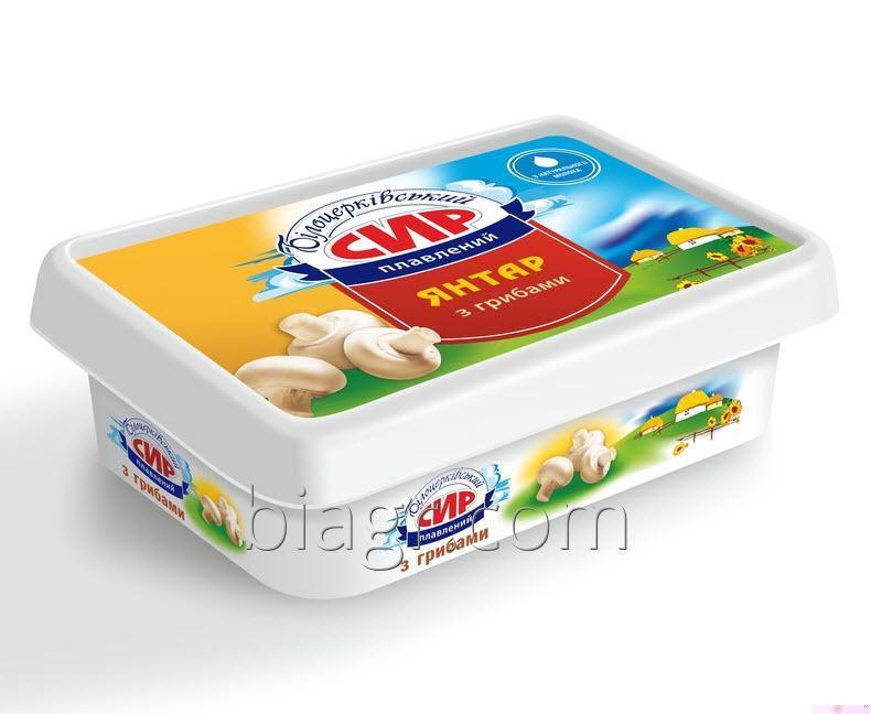 Сыр плавленый пастообразный «Янтарь» с грибами, с массовой долей жира в сухом веществе 60%, 180 г, стакан