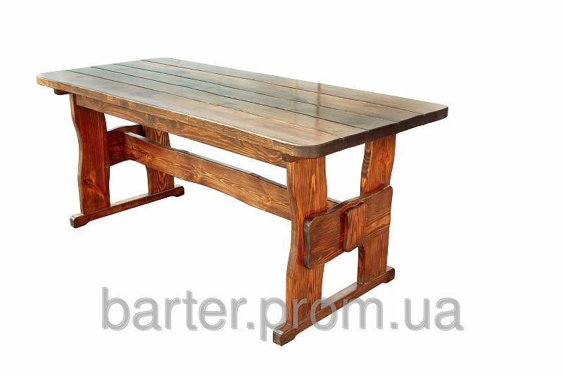 Стол на дачу деревянный