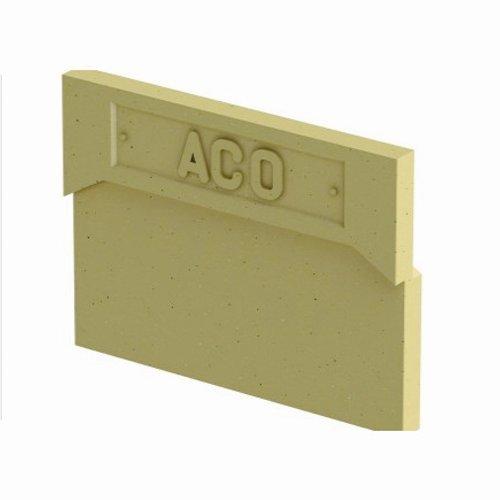 Торцевая заглушка для лотков каналов aco euroline Артикул 38504