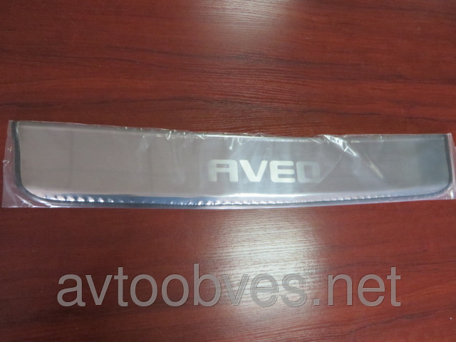 Купить Накладка на задний бампер Chevrolet Aveo (шевроле авео) (2012- ) SD, без загиба