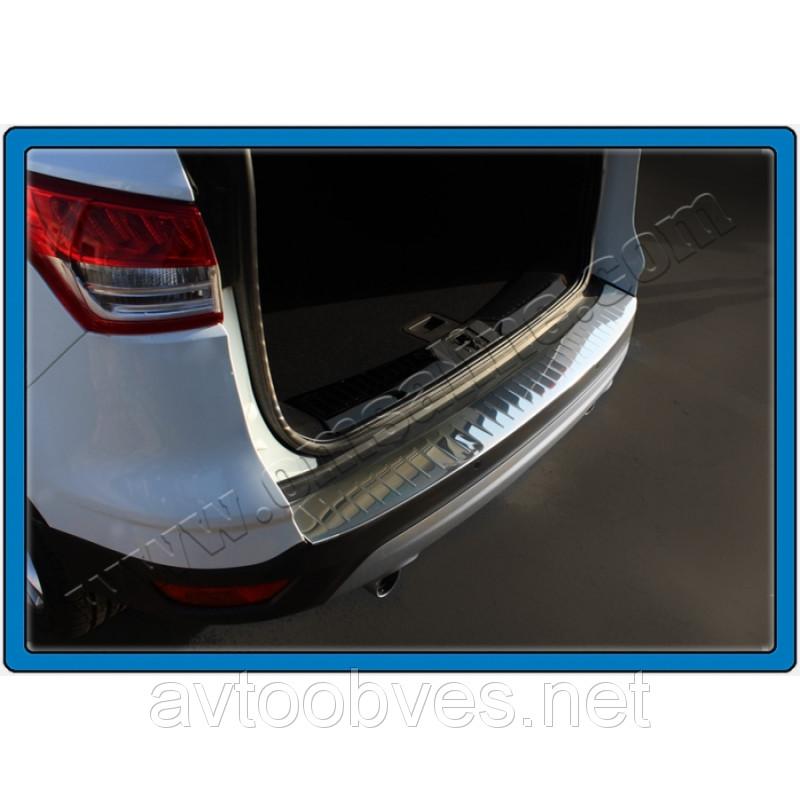 Купить Накладка на задний бампер Ford Kuga (форд куга) 2008-2012, логотип, без загиба. нерж.