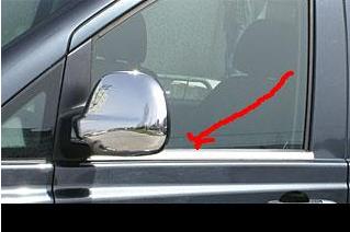 Купить Оконтовка окна (молдинг стекла) Mercedes Vito 639 (мерседес вито 639), нерж.