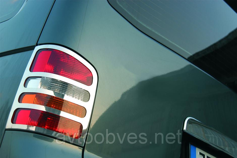 Купить Накладки на стопы Volkswagen Т5 (фольксваген т5), нерж. 2 двер. Багажник