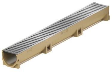 Асо self euroline решетка с оцинковки 1м для лотка для уличного водоотвода