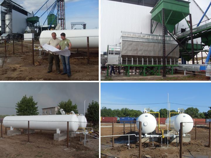 Газоснабжение зерносушилки (система газоснабжения сжиженным углеводородным газом (СУГ) зерносушильной установки TE 2412E)