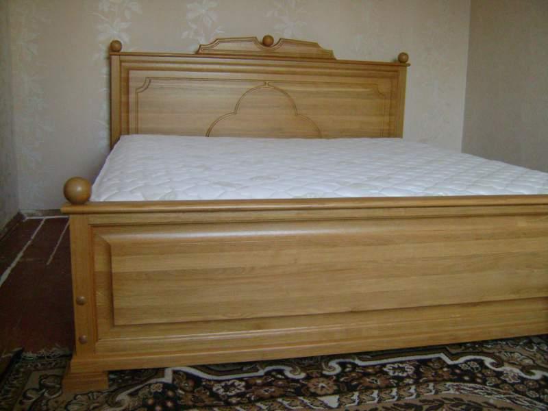 """""""Соната дуб"""" Кровать дубовая, дубовые двухспальные кровати, кровати двуспальные под заказ"""