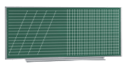 Доска учебная магнитная для мела (2400 х 1000 мм.)